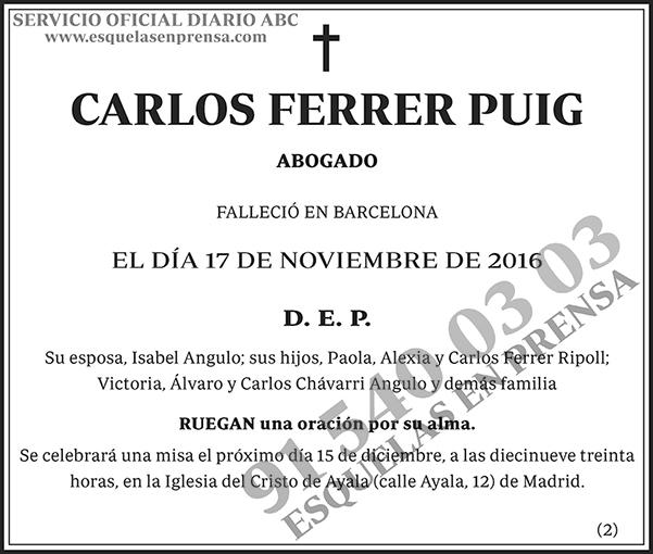 Carlos Ferrer Puig